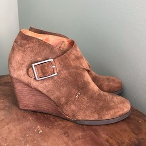 Lucky Brand Buckled Ankle Booties